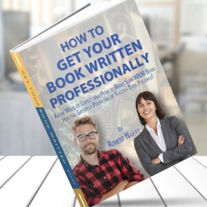 How to get your book written professionally cover