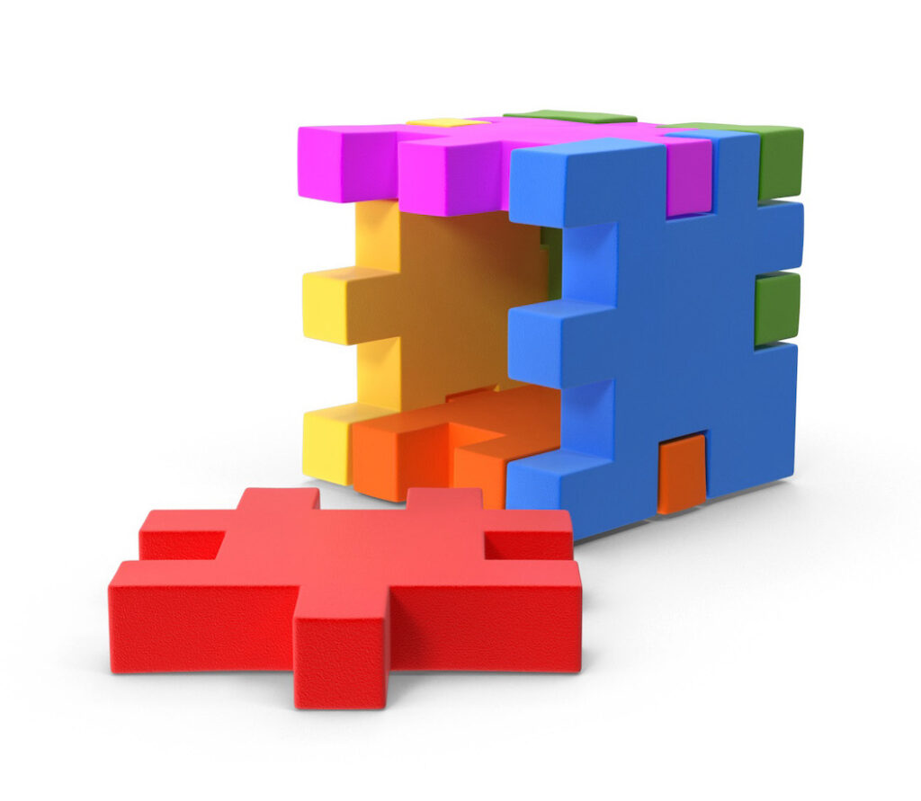 Five Initial Steps to Writing a Book Colorful Cube Icon